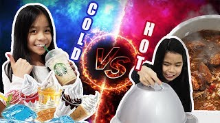 HOT VS COLD CHALLENGE!