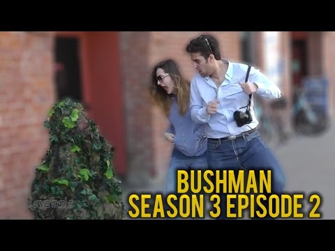 BUSHMAN PRANK | Bush Man Scare Prank #302 | San Francisco | Ryan Lewis Pranks