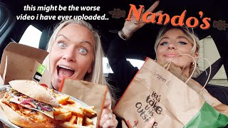 DRIVE WITH US Nando's MUKBANG!! with mum *this is a mess*