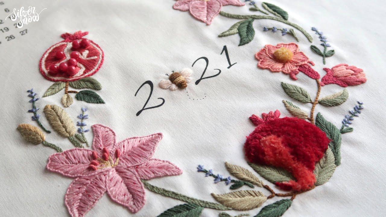 [프랑스 자수] 2021년 달력 자수 2편 2021 Calendar Embroidery - 2nd Episode -