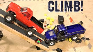 Battle of the Toy Yota's : HiLUX TF2 vs LC70 BRX01 Truck Extreme Climbing Angle Test | RC ADVENTURES