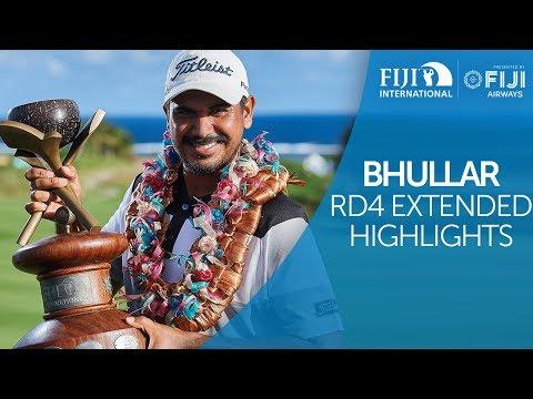 Gaganjeet Bhullar Round 4 Extended Highlights - 2018 Fiji International presented by Fiji Airways