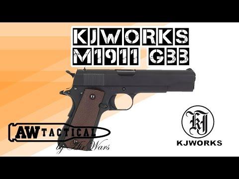 Страйкбольный пистолет KJWORKS M1911 GBB (GREEN GAS)