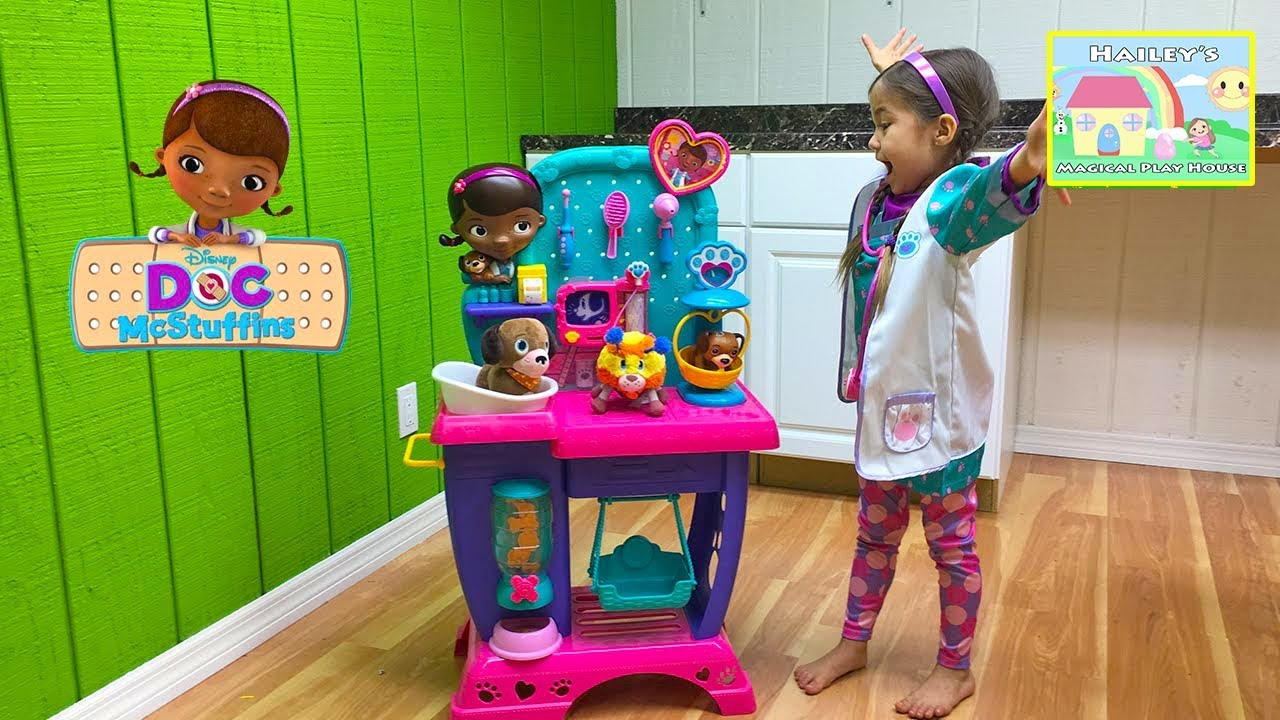 New Doc McStuffins Pet Vet Checkup Center Toy with Baby ...