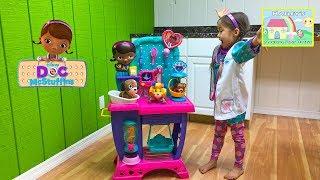 New Doc McStuffins Pet Vet Checkup Center Toy with Baby Puppy! Doc McStuffins Toys