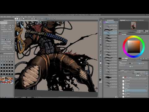 Full Speed Paint Bounty Hunter Splash - Comic Book Coloring in Manga Studio