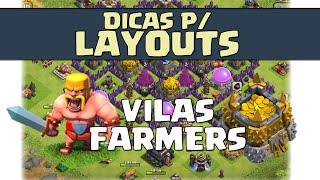 DICAS p/ LAYOUT FARM - Clash of Clans