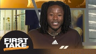 Saints' Alvin Kamara talks Saquon Barkley, Pelicans playoff run, workout video | First Take | ESPN
