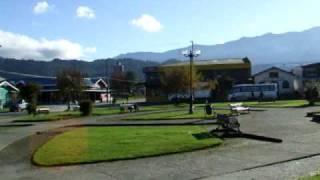 plaza Rio Negro de Hornopiren Chile