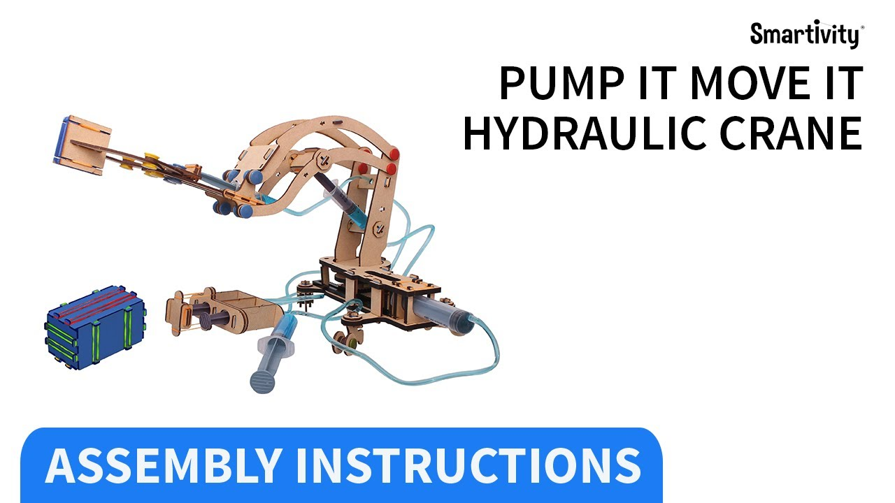 Download SMARTIVITY   Pump It Move It Hydraulic Crane   How to Make