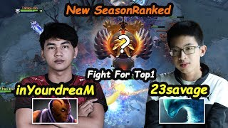 Fnatic 23savage [Morphling] vs Inyourdream [Anti Mage] Fight For Top1  Dota 2 7.22 Gameplay