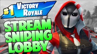 Fortnite Battle Royale // STREAM SNIPING LOBBY // Xbox One // Fast Builder // 620+ Wins //