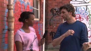 Kalie interviews Frank Woodley