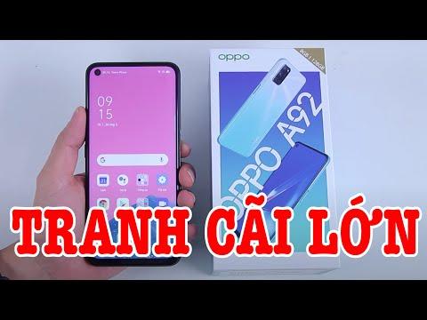 Mở hộp OPPO A92 : điện thoại gây tranh cãi quyết đấu Samsung