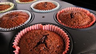 Easy One-pot Chocolate Lava Cupcakes / Muffins