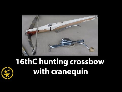 16thC hunting crossbow with cranequin