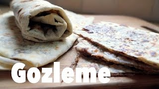 Turkish Flat Bread Filled with Spicy Ground Beef Gözleme Turkish Food