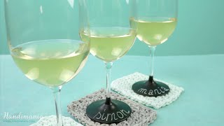 How to Make Personalized Chalkboard Wine Glasses