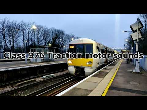 Class 376 traction motor sounds