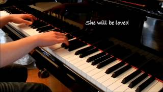 She Will Be Loved (Maroon 5) - Piano Cover [With Lyrics]
