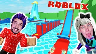 Roblox: DE WATER PARK! KAAN ET NINA DANS LA PISCINE XXL! Escape Waterpark Obby