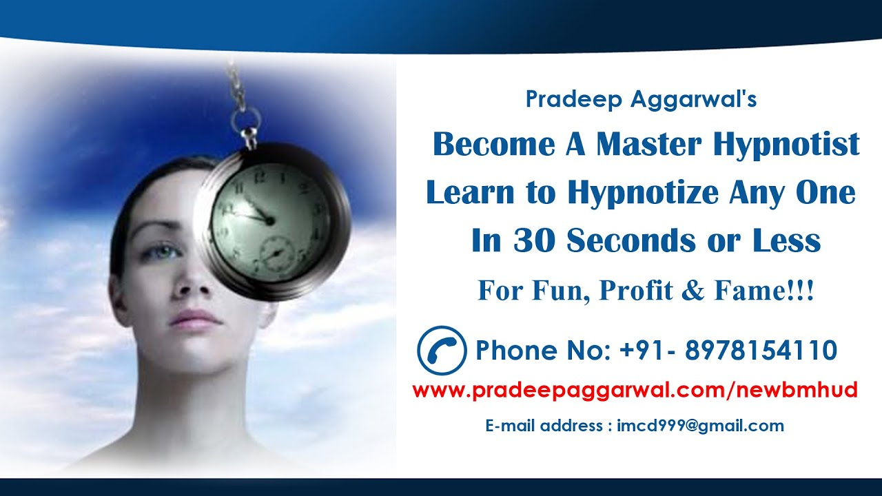How to master hypnosis and become a hypnotherapist