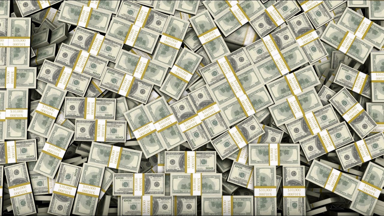 Live Wallpaper Money Falling Stacked Bundles Of 100 Bills Fill Screen Overlay Youtube