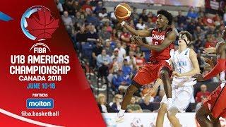 Argentina v Canada - Group Phase - Full Game- FIBA U18 Americas Championship 2018 - ENG