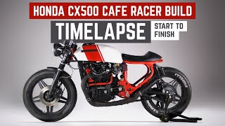 Honda CX500 Cafe Racer Build Time Lapse