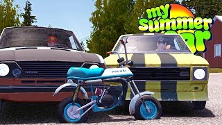 MY SUMMER LIMITED EDITION POLICE MOTORCYCLE! - My Summer Car Gameplay Highlights Ep 105