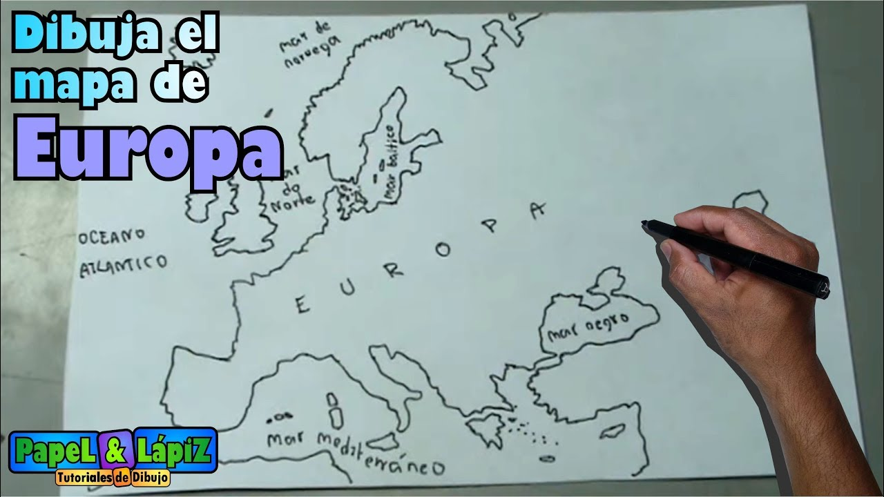 Cómo dibujar fácil el mapa de Europa, continente - Europe maps - YouTube