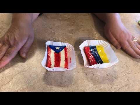 Haciendo Banderitas Con Yastka , Puerto Rico  Y Colombia 🇵🇷🇨🇴