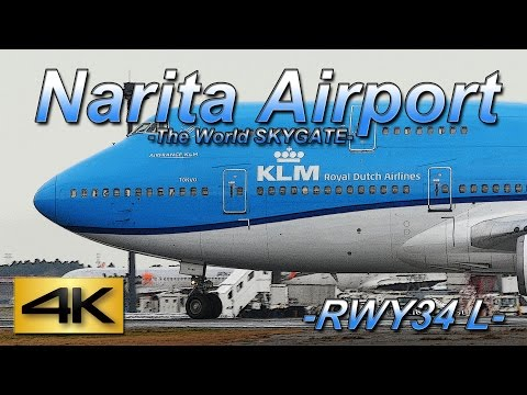 【4K】 1Hour Spotting @Narita Rwy34L(December 8 2015) the Amazing Airport Spotting