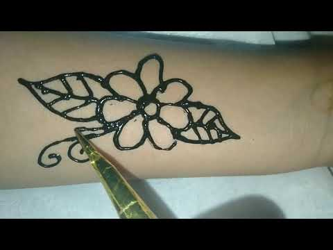 Tutorial on henna in the palm, learn henna easily and quickly ...