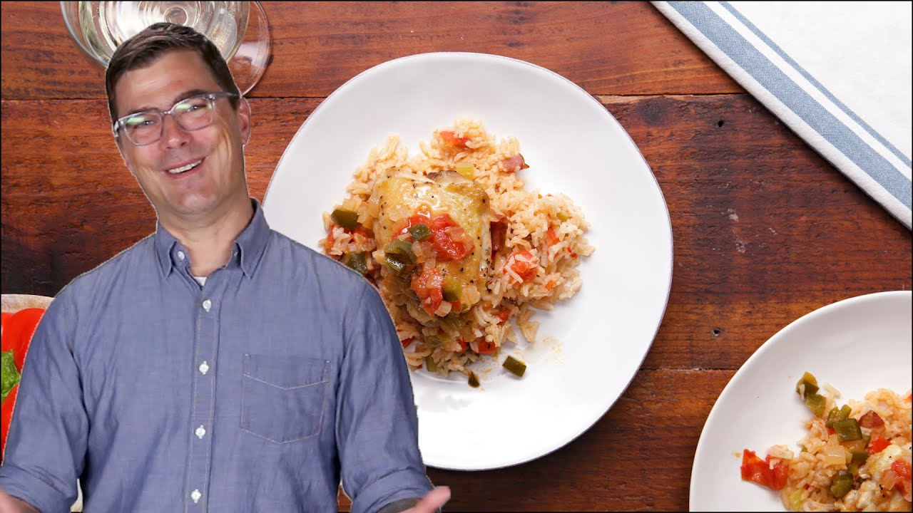 Braised Chicken Thighs With Red Rice As Made By Hugh Acheson •Tasty