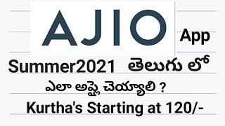 Ajio summer2021 apply   Kurtha's starting at 120/- below   All Apps screenshot 2