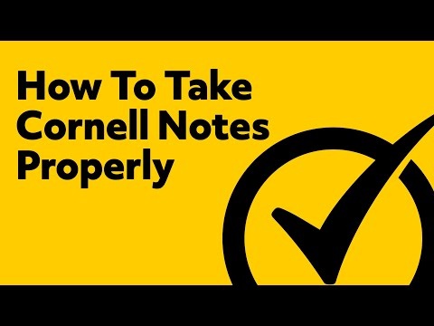 How To Take Cornell Notes Properly