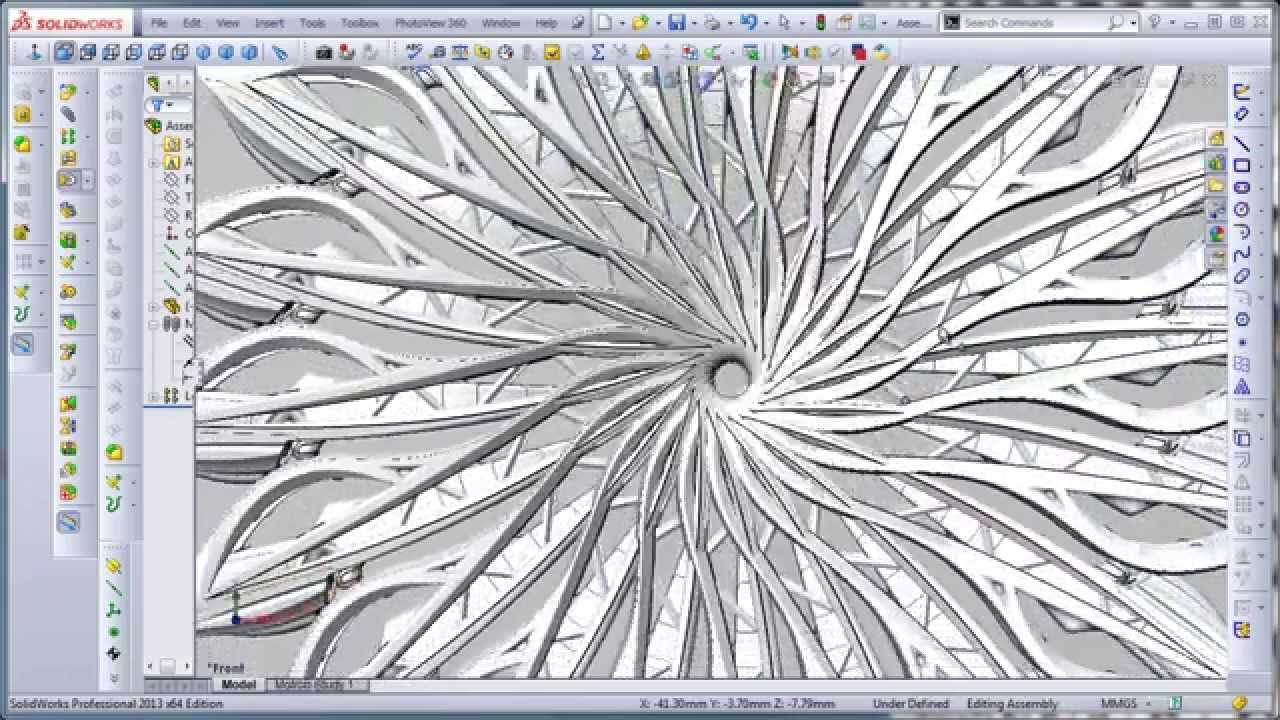 Solidworks 3d Pattern Youtube