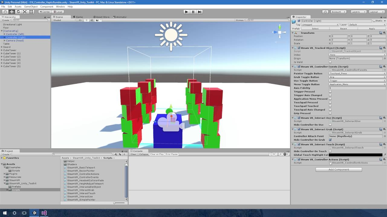 Steamvr Controller Binding Unity