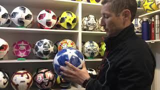 футбольные мячи чемпионата мира 2018 года и лиги чемпионов 2019 года обзор