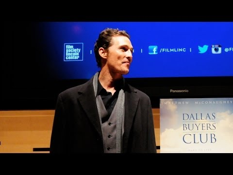 Film Society Talks | Matthew McConaughey | Dallas Buyers Club (Full)