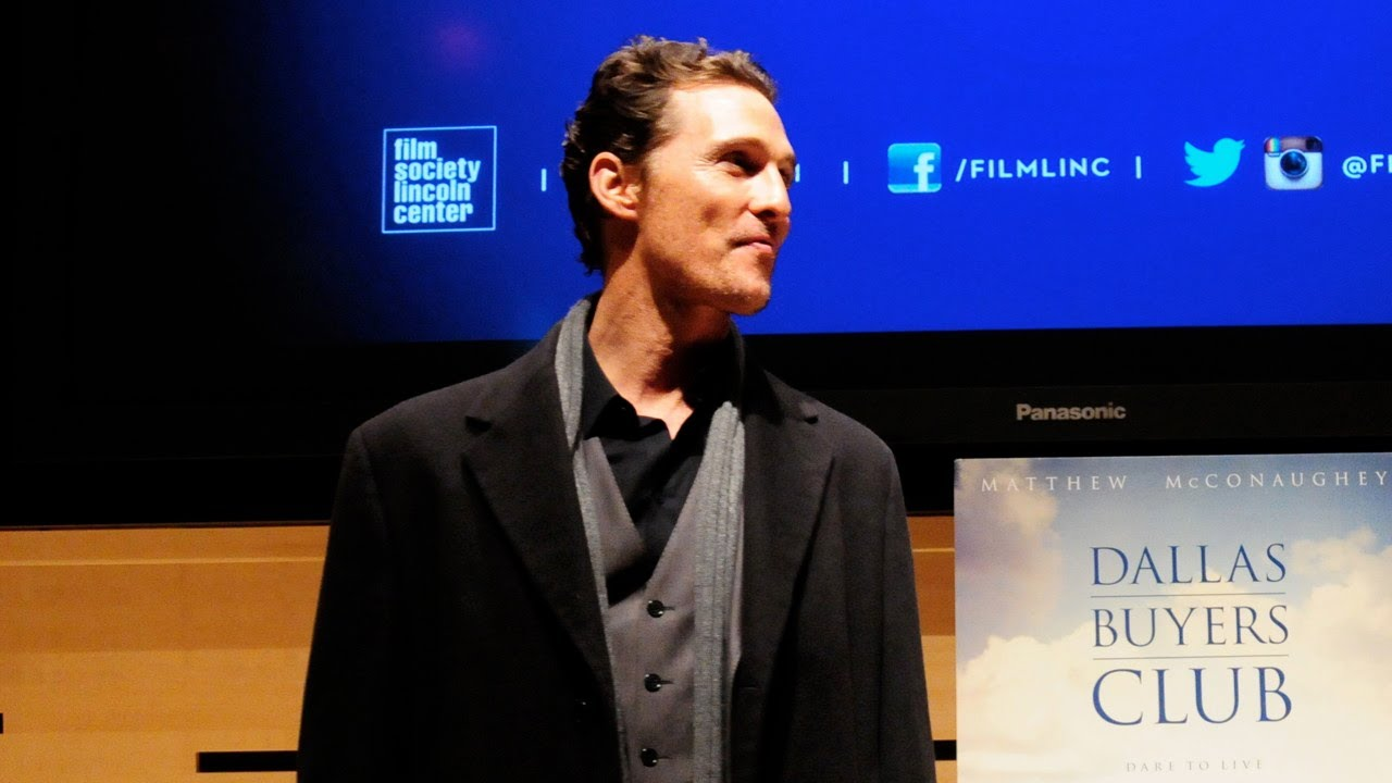 Film Society Talks | Matthew McConaughey | Dallas Buyers Club (Full)