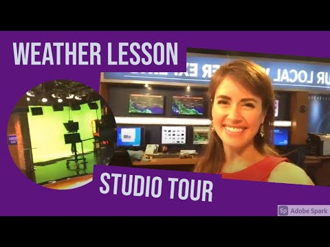 Weather Lessons with Alexandra: Studio tour