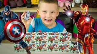 Marvel Avengers Chocolate Surprise Eggs Kinder Playtime Easter Egg Captain America Iron Man
