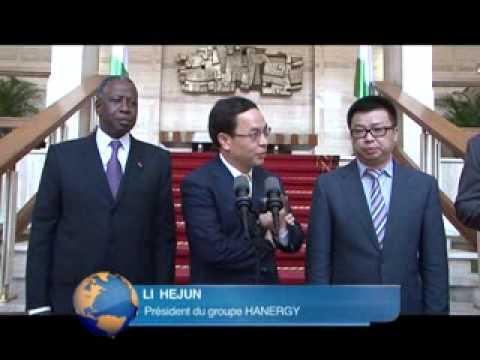 Présidence: le Président reçoit le Groupe Hanergy