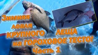 Ловля крупного леща зимой.
