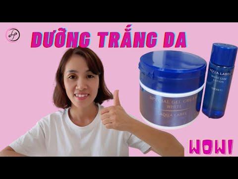 Test Kem Dưỡng Trắng Da Aqua Label Nhật | Hiền hàng Nhật