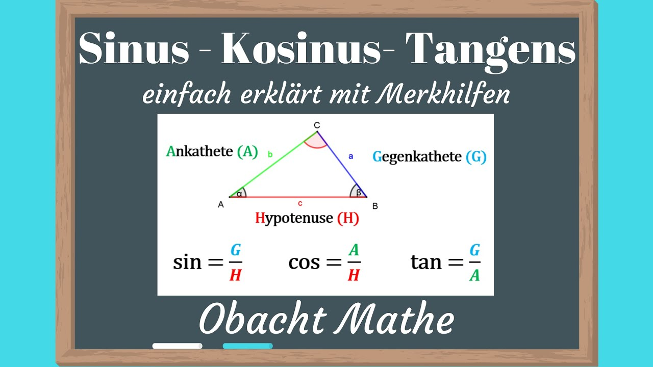 sinus cosinus tangens erklärung