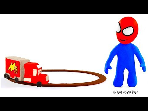 Cars Lightning McQueen Mack Truck ★ Play Doh Stop Motion video ★ Disney cars toys & baby kids song