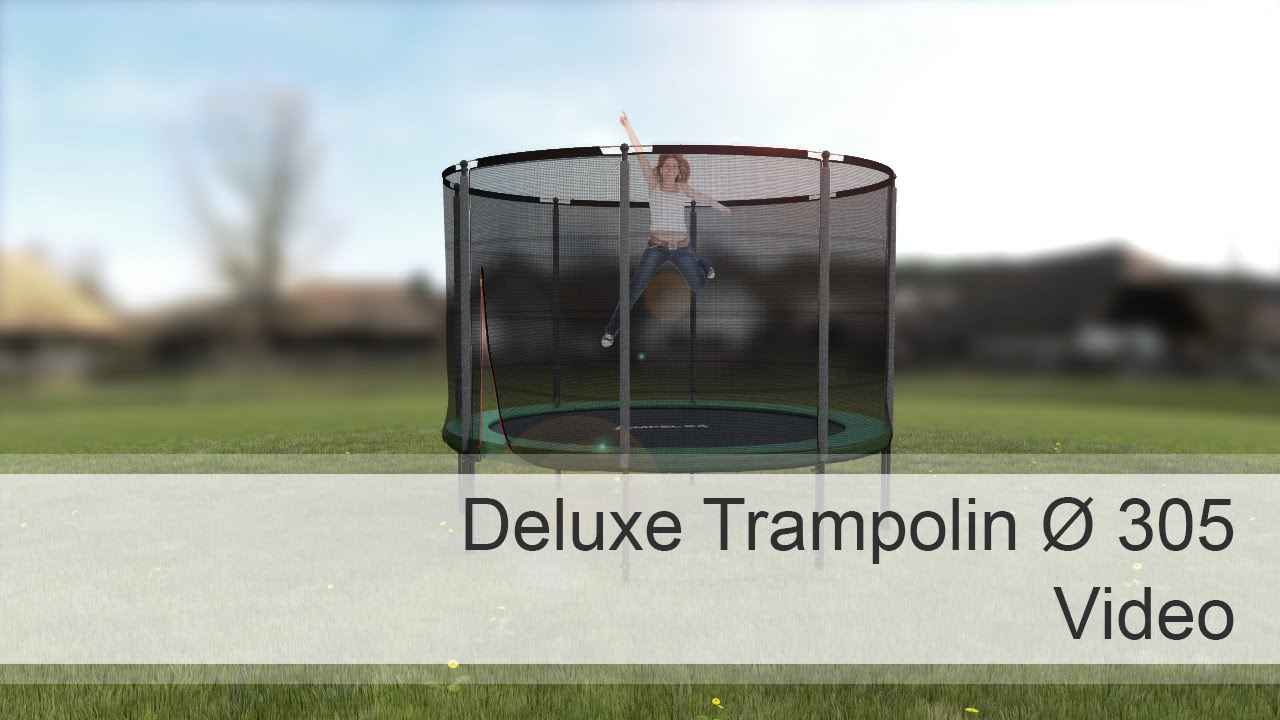 ampel 24 deluxe trampolin 305 cm mit netz youtube. Black Bedroom Furniture Sets. Home Design Ideas